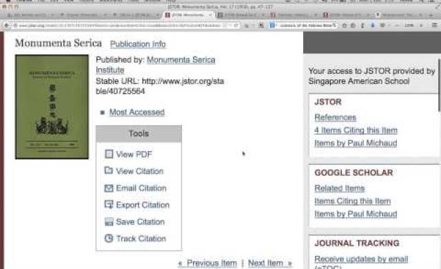 JSTOR Search Tutorial