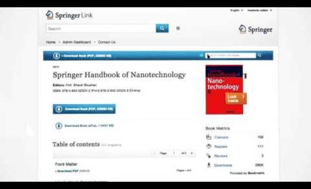eBooks – SpringerLink Tutorial